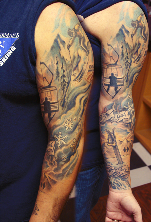 tattoos for skiing and snowboard lovers snowboard warlord guff. Black Bedroom Furniture Sets. Home Design Ideas